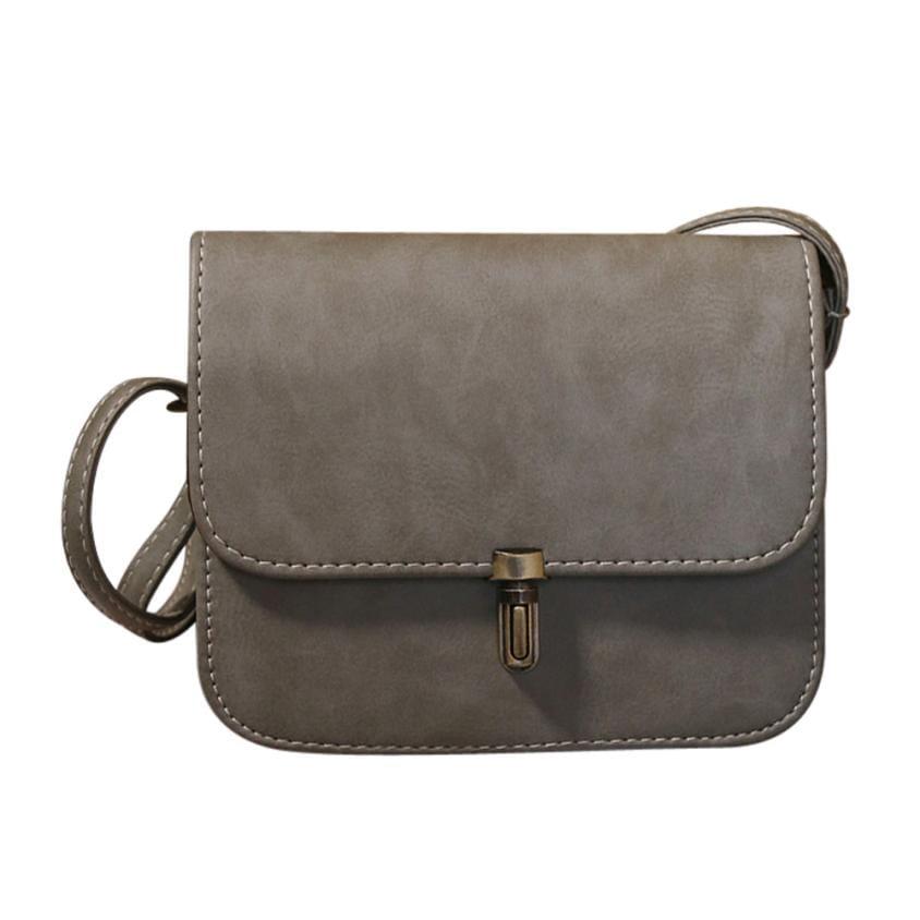 641b7c99 Mała, skórzana torebka na ramię SZARA