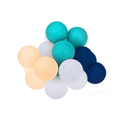 Cotton Balls Dekoracyjne Kule Lampki Led 10 Kul Dekoracyjne Wewnętrzne